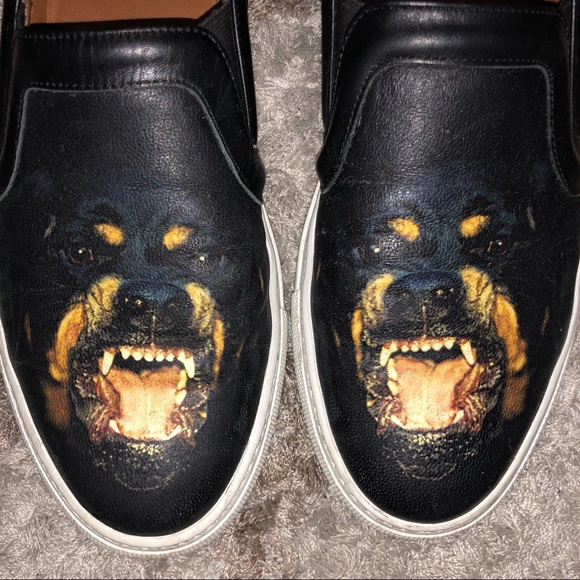 Givenchy Leather Rottweiler Slip On